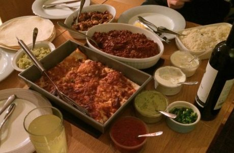 Two Bottles In - Amy's Creamy Prawn Enchiladas